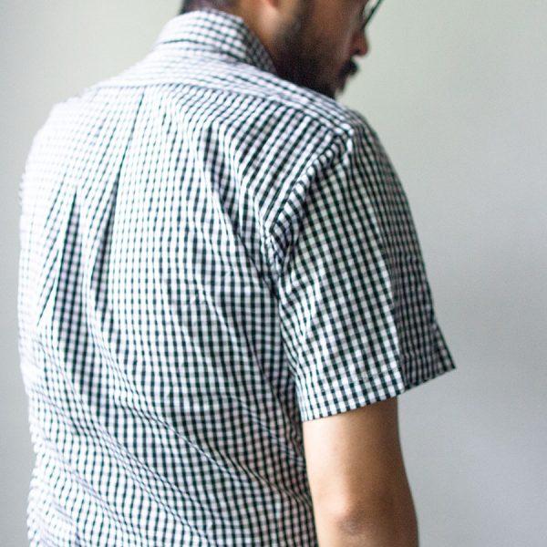 Manual Alphabet マニュアル アルファベット  Gingham basic bd ss shirt  ギンガム ベーシック BD 半袖 シャツ