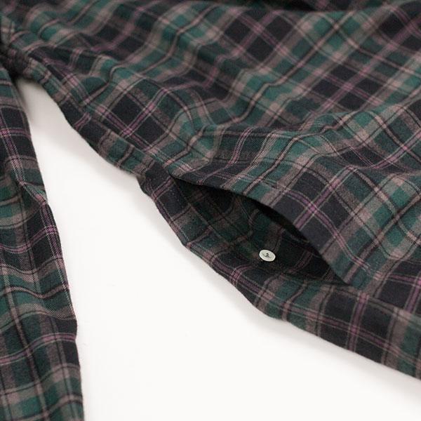 1sin イッシン Delightful pullover shirt green check デライトフル プルオーバー シャツ  グリーンチェック 2016 aw
