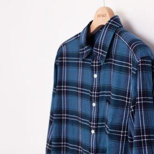 Manual Alphabet マニュアル・アルファベット loosely twist Viyella check shirt 甘撚りビエラ チェック シャツ