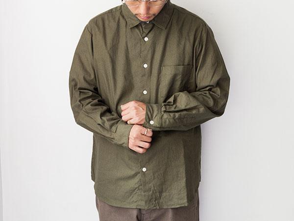 Manual Alphabet マニュアルアルファベット  Viyella Loose fit regular color shirts ルーズフィット レギュラーカラー シャツ