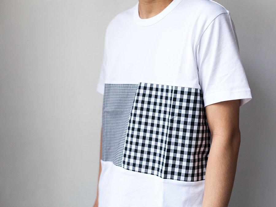 ALOYE アロイ 2017ss シャツ 切り返し グラフィック Tシャツ ギンガムのボディー