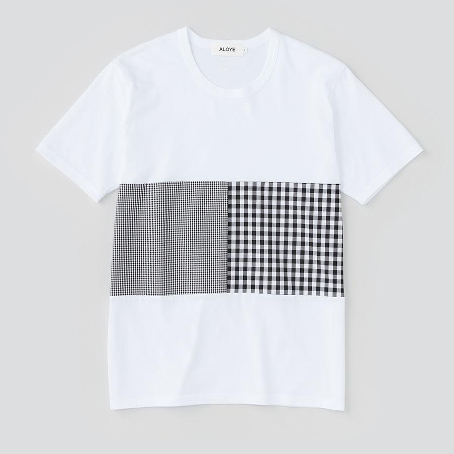 ALOYE アロイ 2017ss シャツ 切り返し グラフィック Tシャツ ギンガムの商品写真