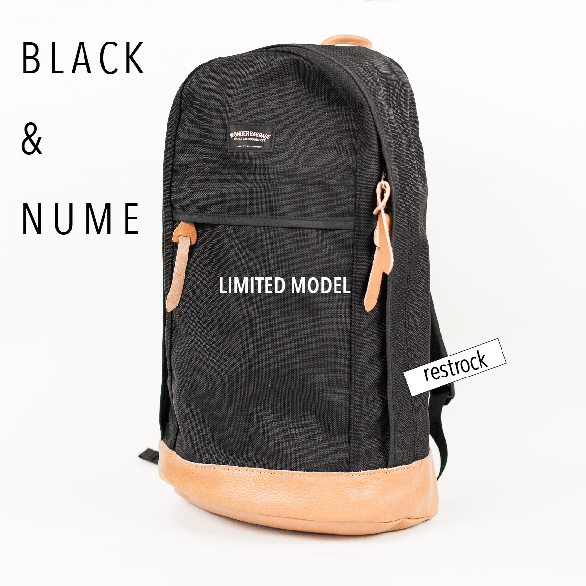 wonder baggage black and nume 限定モデル