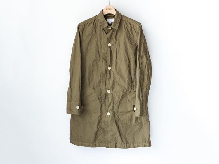 マニュアルアルファベット manual alphabet シャツコート 2017 shirt coat olive オリーブ