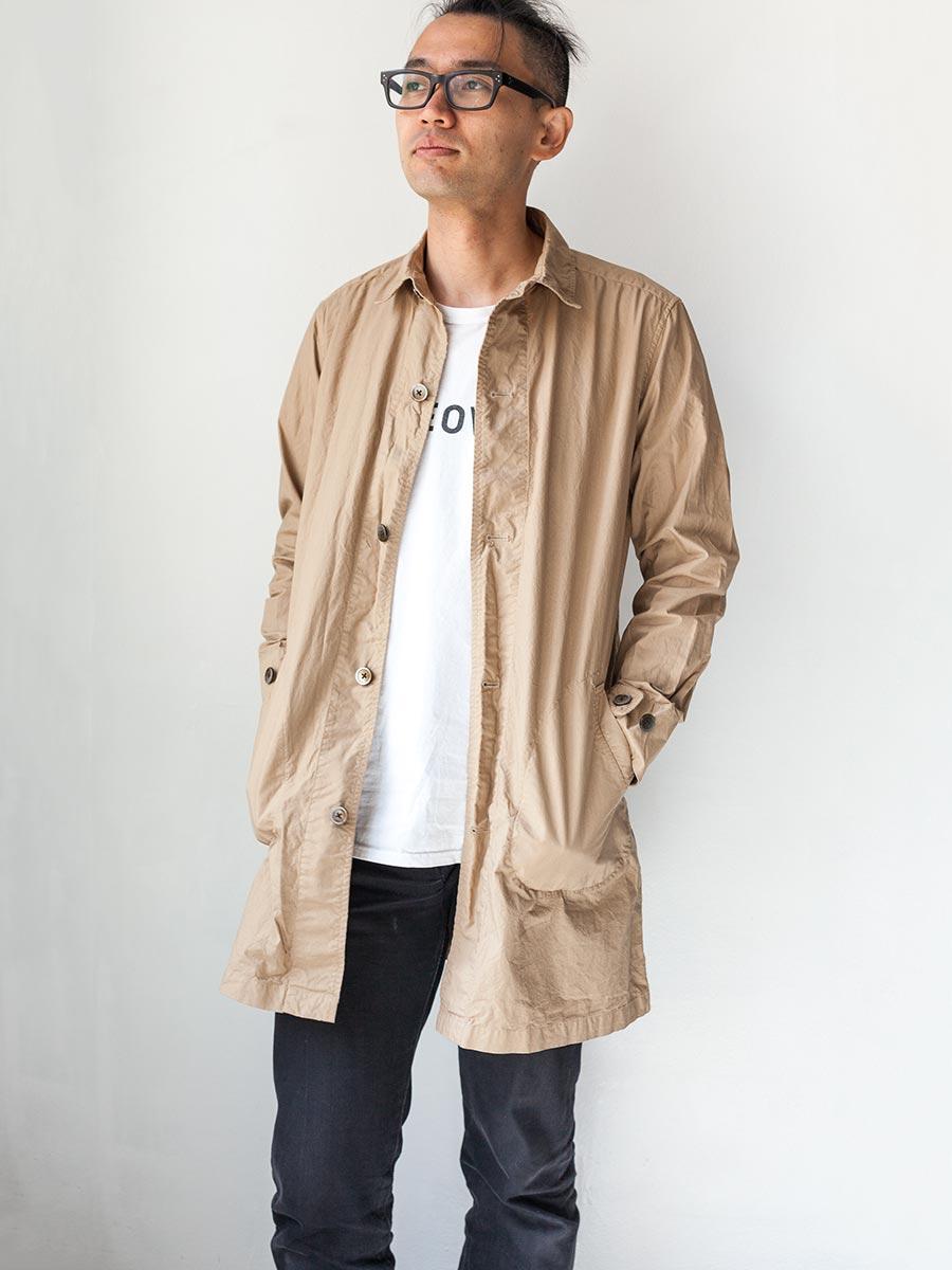 マニュアルアルファベット manual alphabet シャツコート 2017 shirt coat ライトベージュ着衣