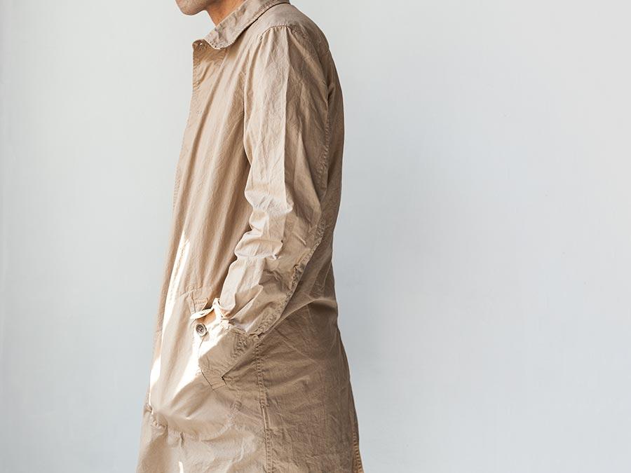 マニュアルアルファベット manual alphabet シャツコート 2017 shirt coat 横向き