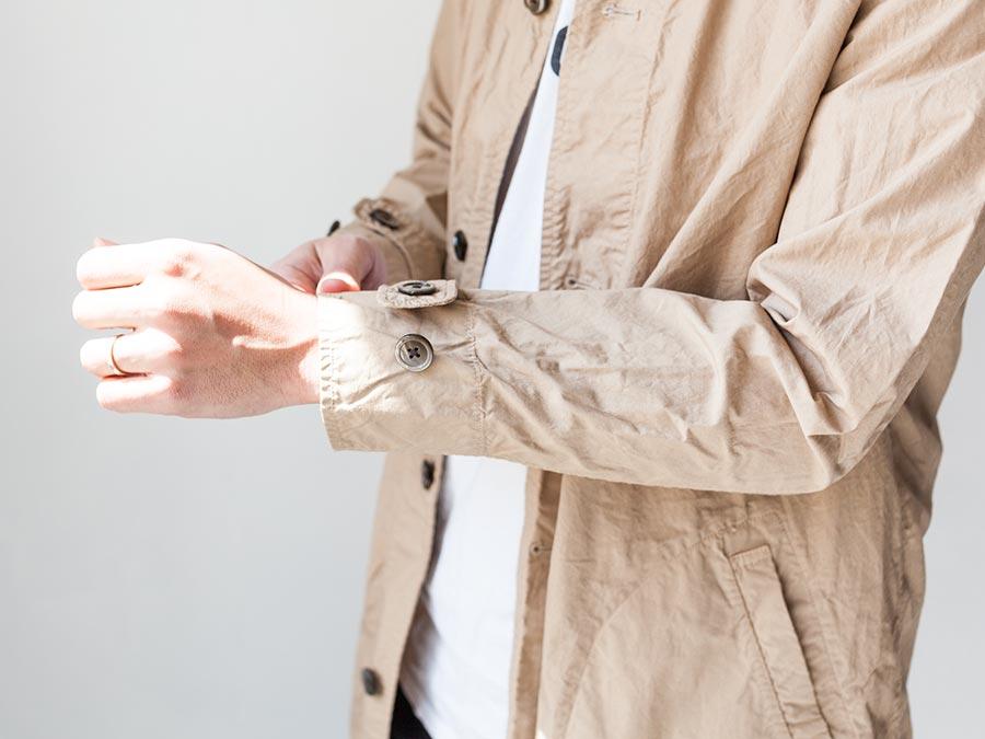 マニュアルアルファベット manual alphabet シャツコート 2017 shirt coat ライトベージュ袖口