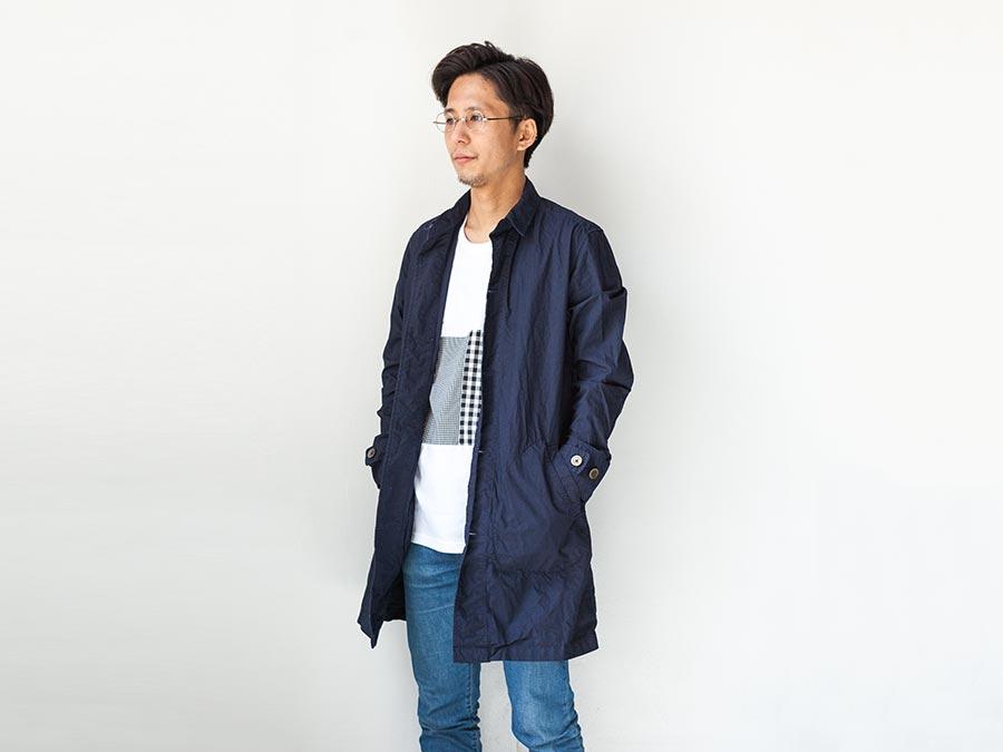 マニュアルアルファベット manual alphabet シャツコート 2017 shirt coat ネイビー 着衣