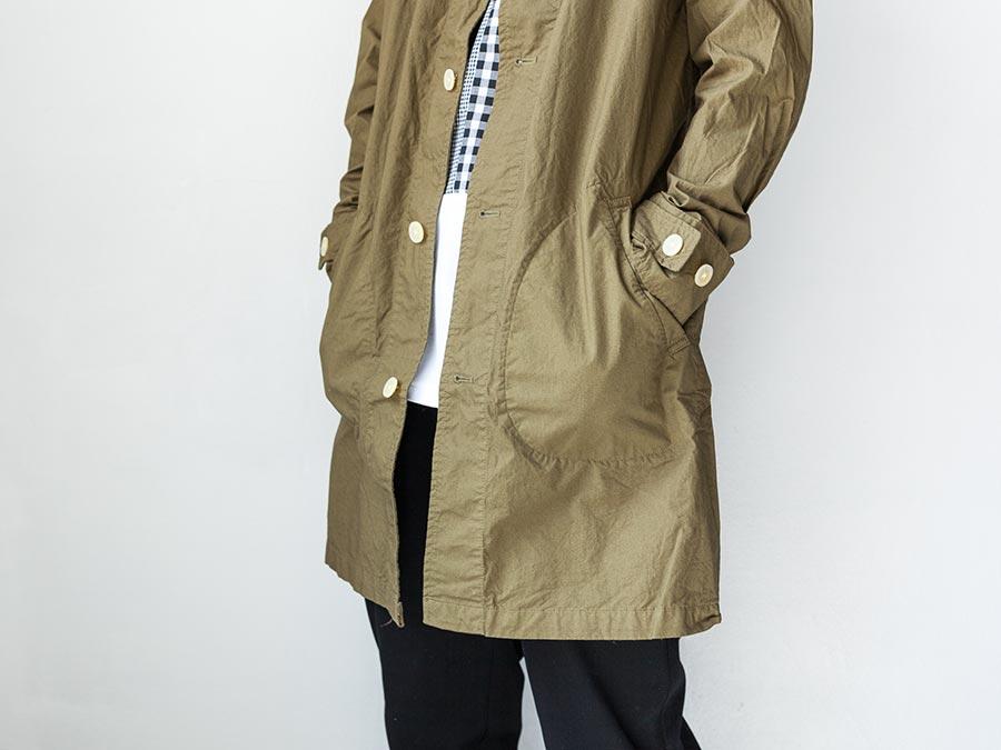 マニュアルアルファベット manual alphabet シャツコート 2017 shirt coat オリーブ 裾