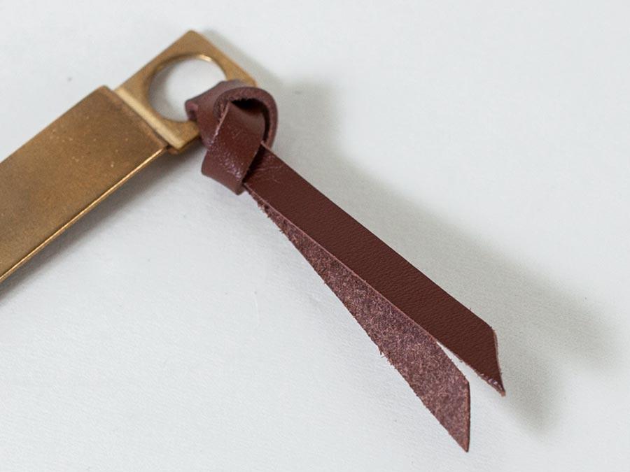 tinyformed タイニーフォームド bookmark ブックマーク 真鍮と皮革
