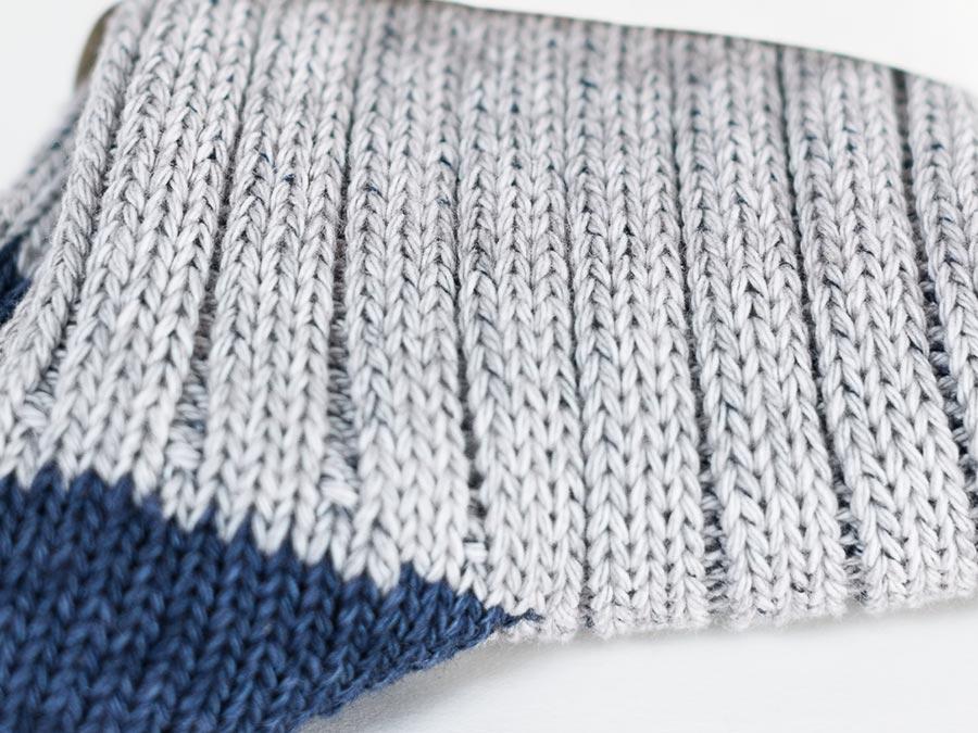 NISHIGUCHI KUTSUSHITA 西口靴下 靴下 はくひとおもい メンズ レディース あぜ編み部分拡大