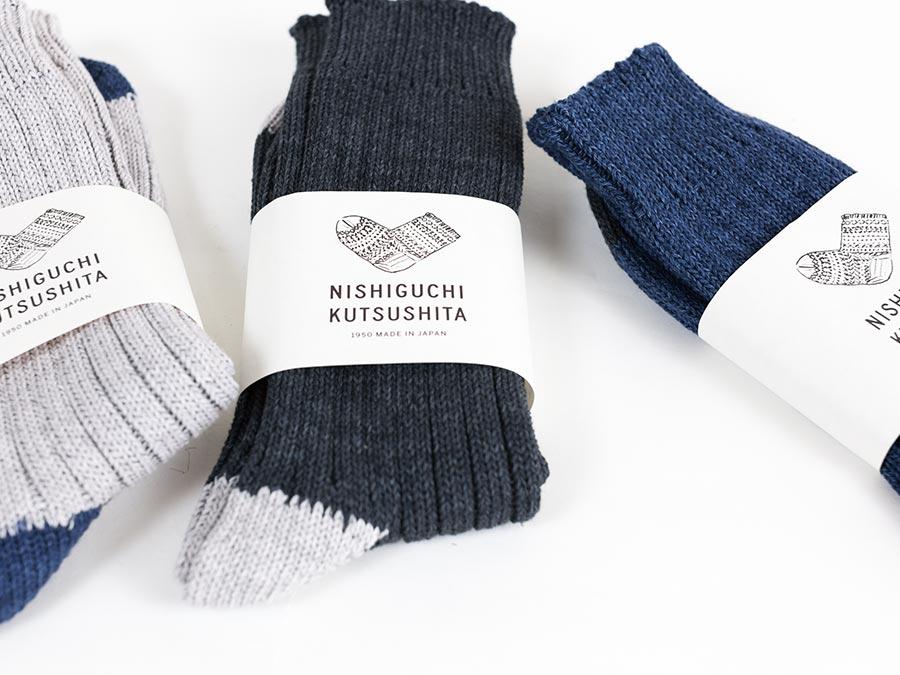 NISHIGUCHI KUTSUSHITA 西口靴下 靴下 はくひとおもい メンズ レディース 帯あり写真