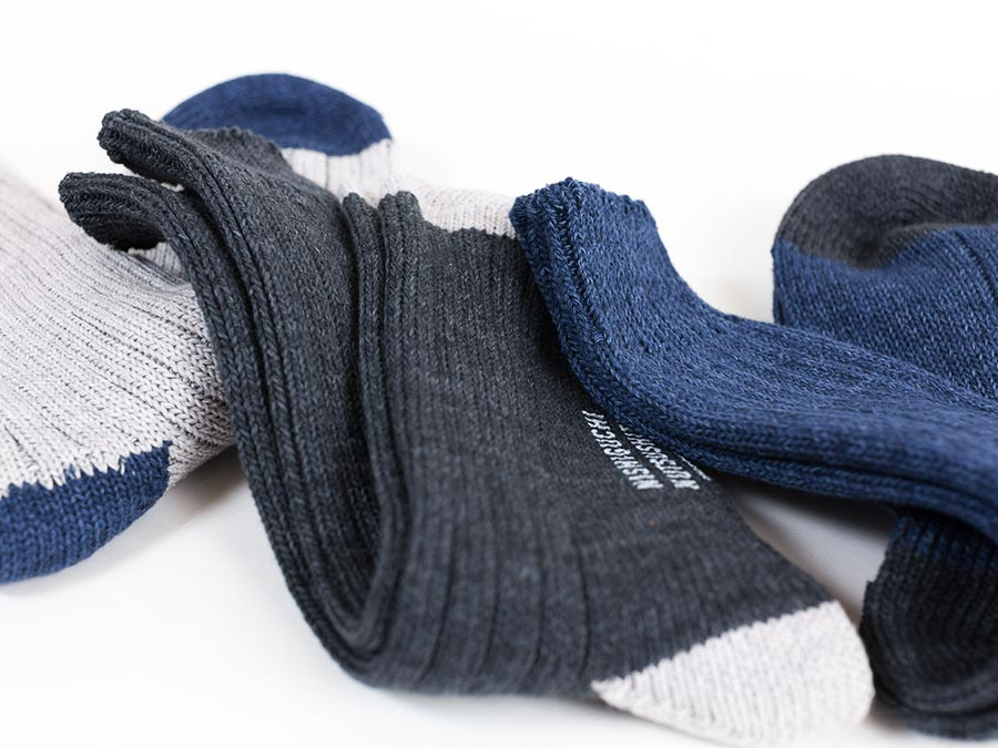 NISHIGUCHI KUTSUSHITA 西口靴下 靴下 はくひとおもい メンズ レディース アップ写真