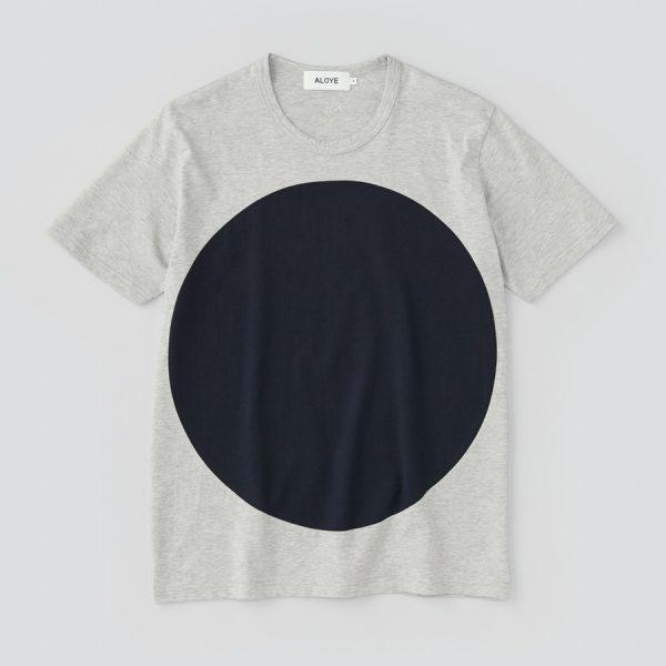 ALOYE アロイ 2017ss サークル 切り返し グラフィック Tシャツ サークルネイビー商品写真