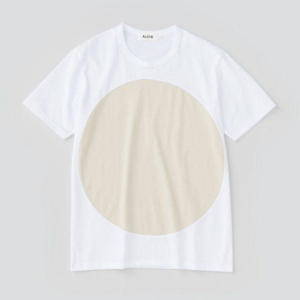 ALOYE アロイ 2017ss サークル 切り返し グラフィック Tシャツ サークル ベージュ 商品