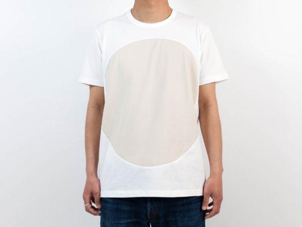 ALOYE アロイ 2017ss サークル 切り返し グラフィック Tシャツ サークルベージュ 人物