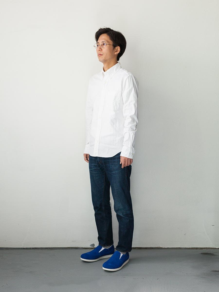 blueover 2017ss 新作 スリッポン zuk ズク 着装原田ネイビーブルー