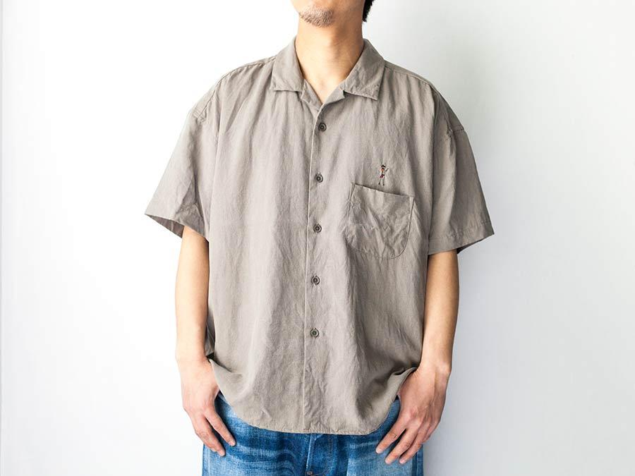 manual alphabet マニュアルアルファベット ビーチガール 半袖シャツ アロハシャツ 上半身