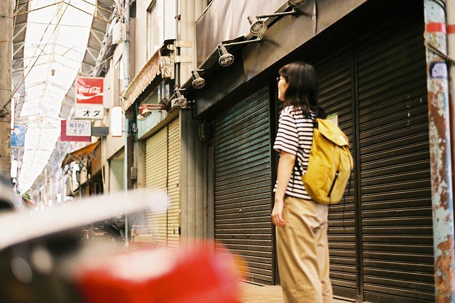 wonder baggage ワンダーバゲージ sunny draw string 商店街