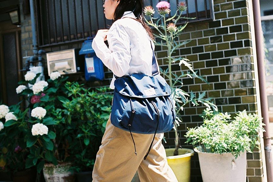 wonder baggage ワンダーバゲージ sunny draw string 町歩き横ショルダー