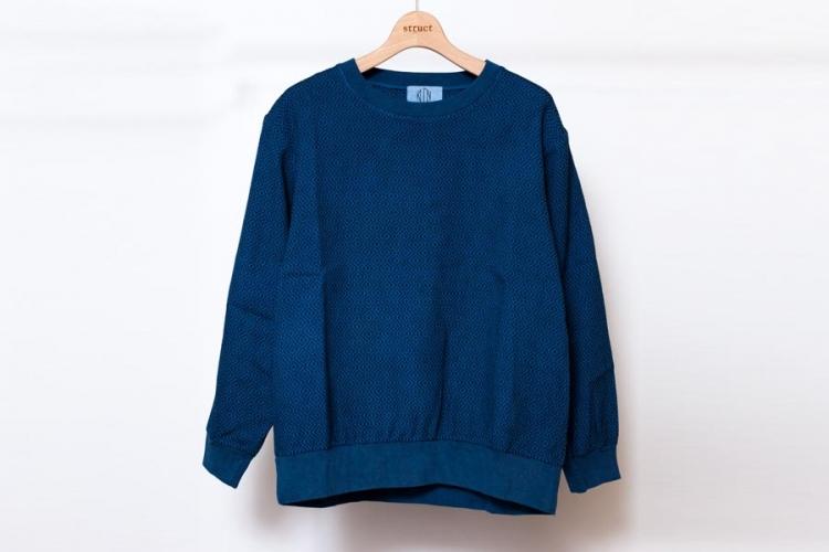 藍染 刺し子についてとKUON2017 プルオーバーシャツ 藍染