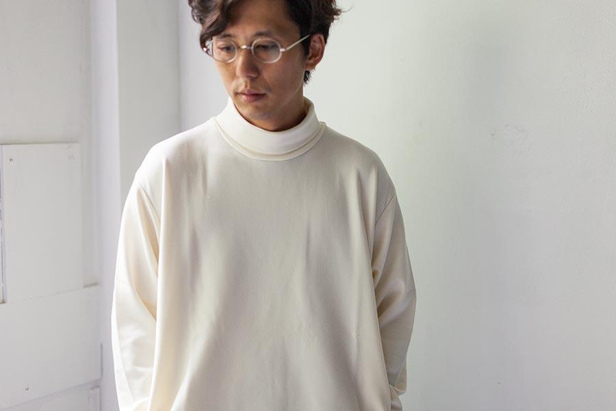 nanamica ナナミカ dualwarm turtle neck デュアルウォーム タートルネック オフホワイト原田さん
