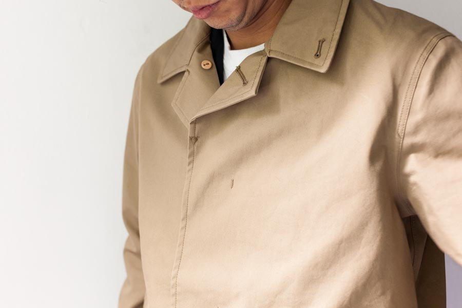 nanamica ナナミカ cotton gore-tex soutien collar coat 襟元 ベージュ 2017