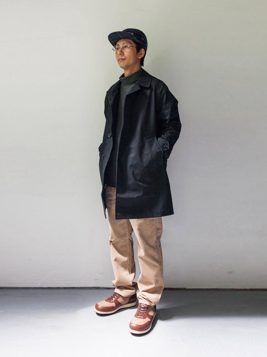nanamica ナナミカ cotton gore-tex soutien collar coat 全身画像 ブラック 2017