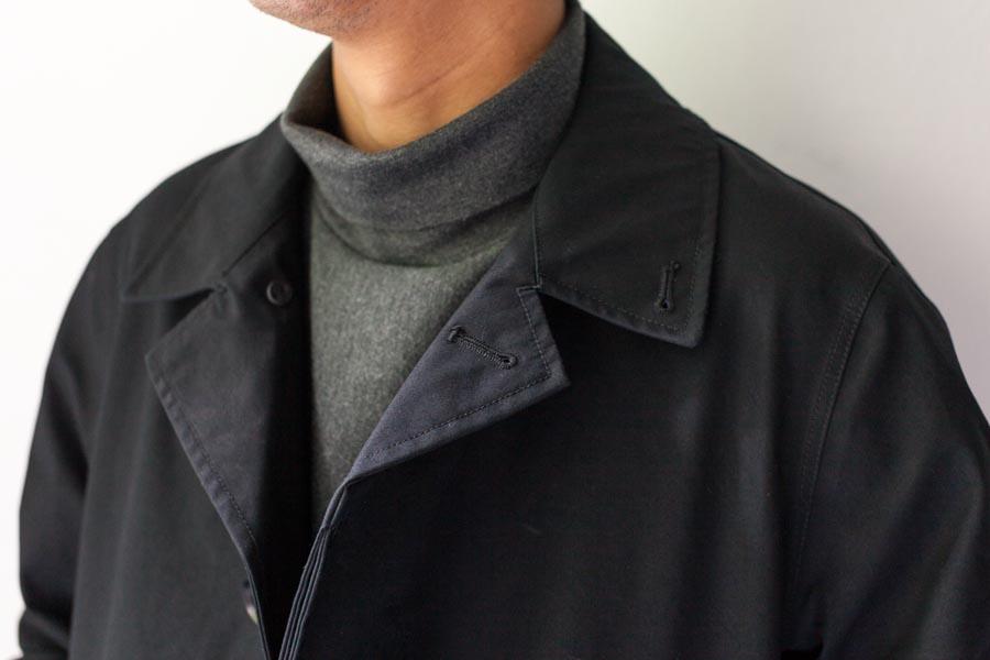 nanamica ナナミカ cotton gore-tex soutien collar coat 襟元 ブラック 2017