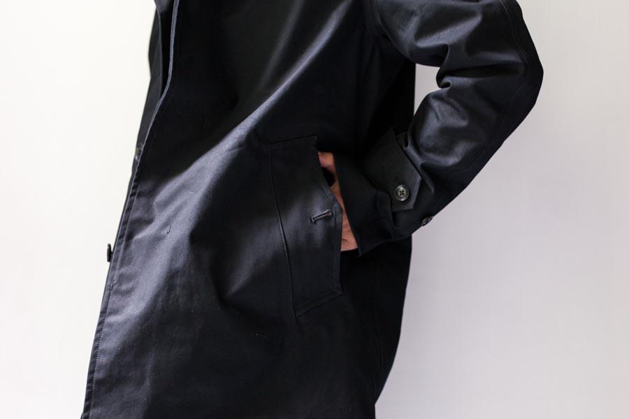 nanamica ナナミカ cotton gore-tex soutien collar coat ポケット ブラック 2017