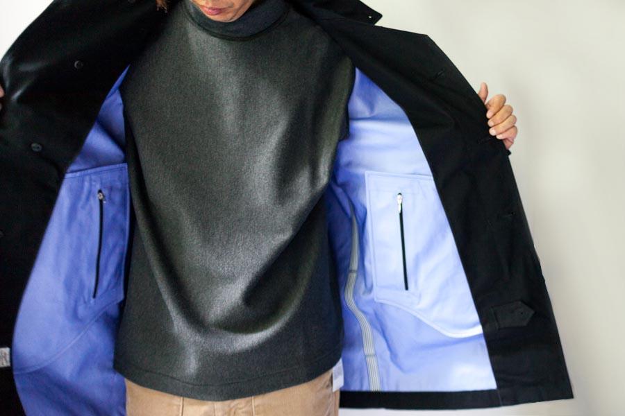 nanamica ナナミカ cotton gore-tex soutien collar coat 中の感じ 2017