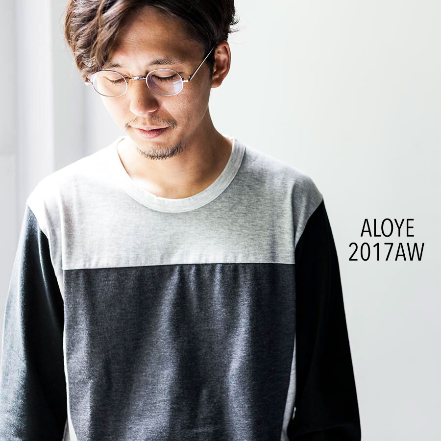 ALOYE アロイ 2017AW 長袖 long sleeve cut sew トップ画像