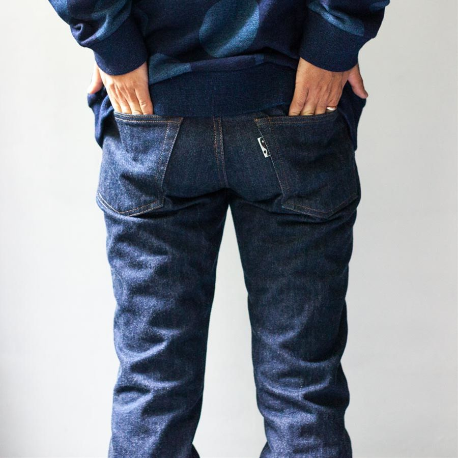 blue blue japan ブルーブルージャパン 大阪 取り扱いスタート OKURA オクラ レギュラーデニム ジーンズ 背面