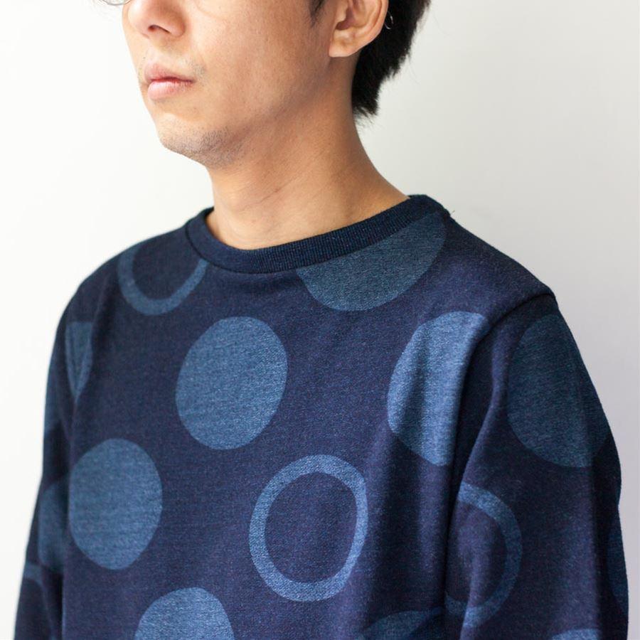 blue blue japan ブルーブルージャパン 大阪 取り扱いスタート バブルドットスウェット  着衣