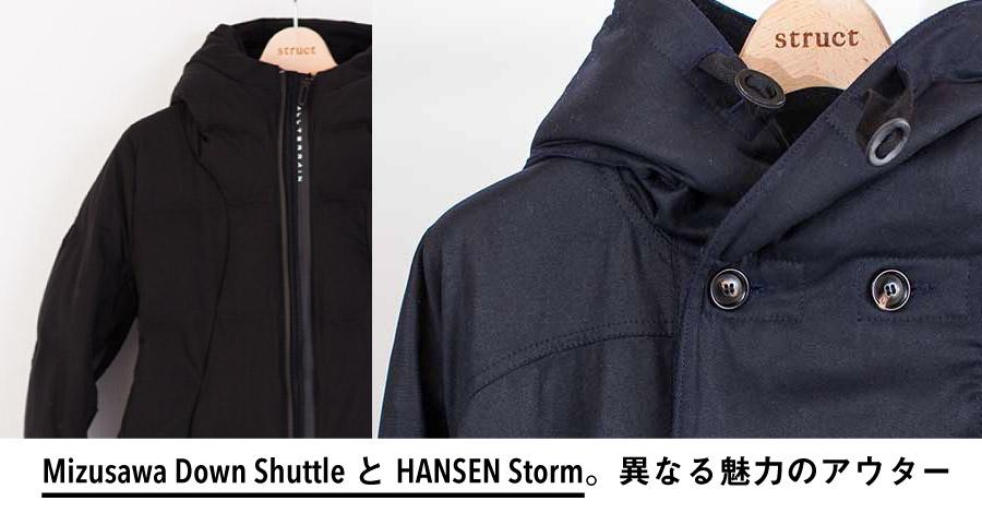 水沢ダウン シャトル mizusawa Shuttle hansen ハンセン strom ストーム トップ画像