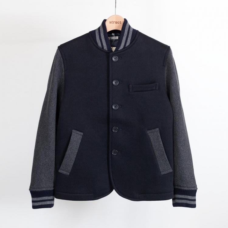 blue blue japan ブルーブルージャパン アワードジャケット グレーカラートップ