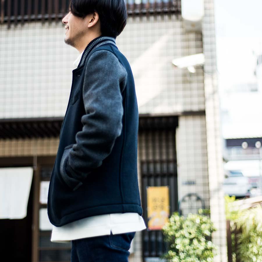 blue blue japan ブルーブルージャパン アワードジャケット 横面の表情