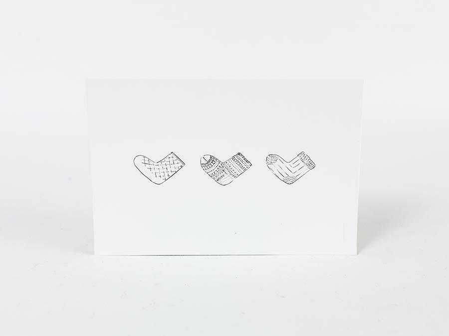 ニシグチクツシタ、オリジナルラッピングに付属する、オリジナルのメッセージカード