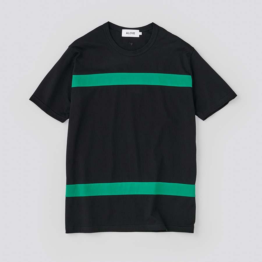 アロイ blockカラー正面 ブラックグリーン
