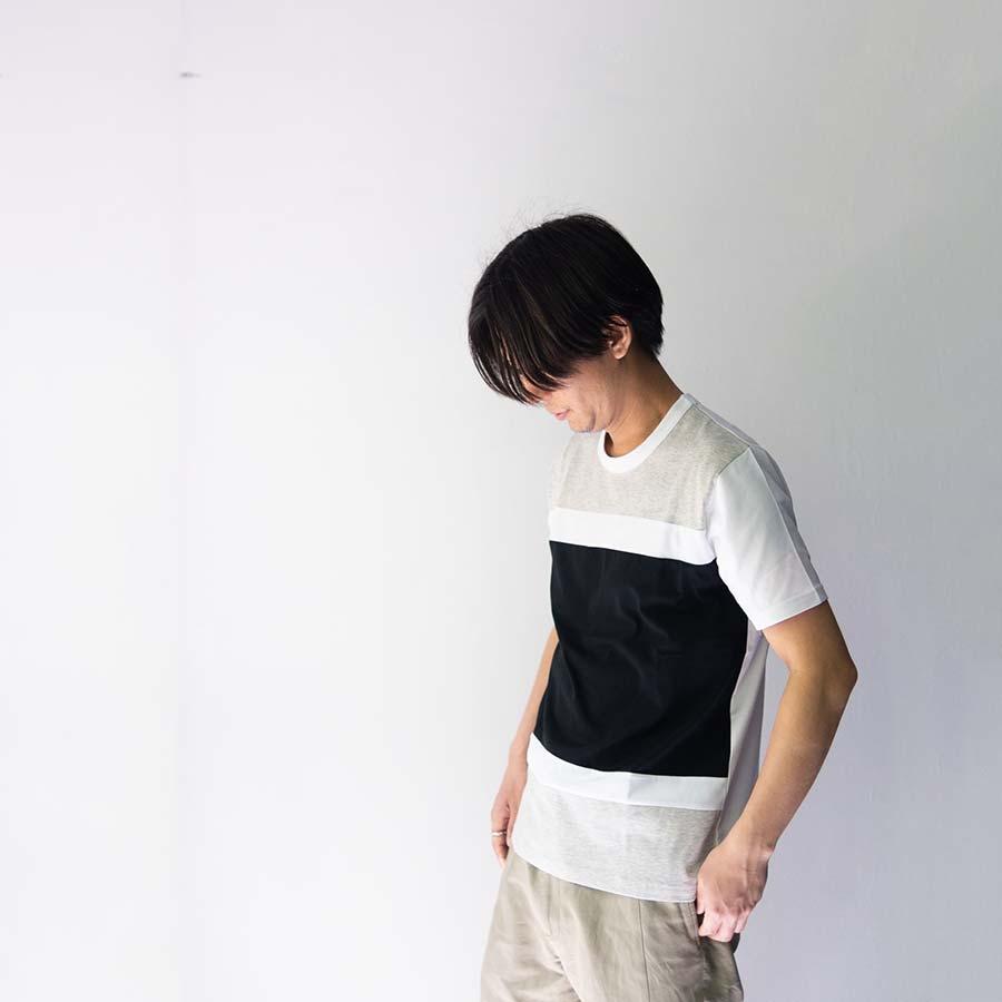 アロイ blockカラー着衣 グレイブラック